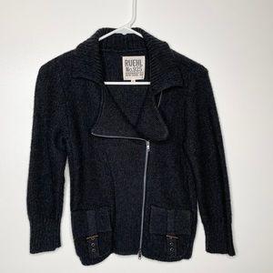 RUEHL NO. 925 Grey Full Zip Wool Alpaca Sweater